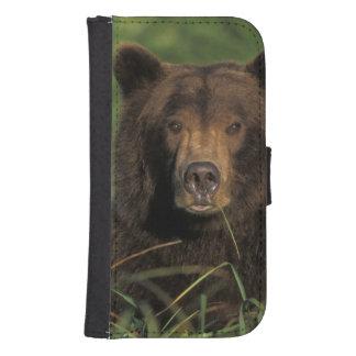 brown bear, Ursus arctos, grizzly bear, Ursus 9 Samsung S4 Wallet Case