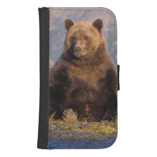 brown bear, Ursus arctos, grizzly bear, Ursus Samsung S4 Wallet Case