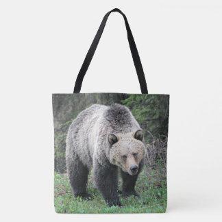 Brown Bear Walking In The Woods Tote Bag