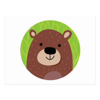 Brown Bear - Woodland Friends Postcard
