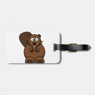 Brown Beaver Luggage Tags
