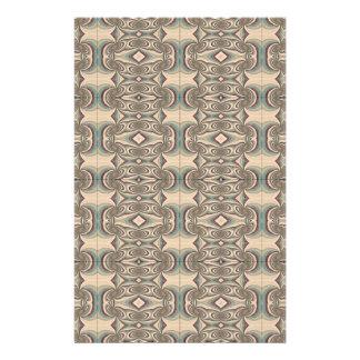 Brown, Beige and Blue Fabric. Elegant Design 14 Cm X 21.5 Cm Flyer