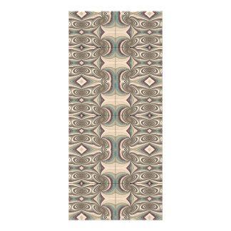 Brown, Beige and Blue Fabric. Elegant Design Rack Card