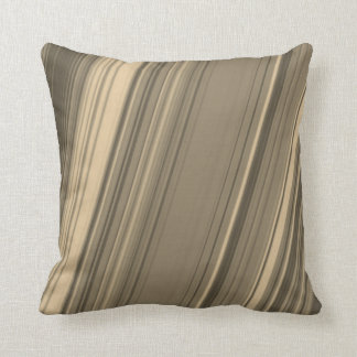 Brown, Beige and Grey Rustic Lines Pillow