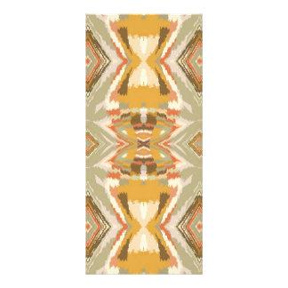 Brown Beige Aztec Design Rack Cards