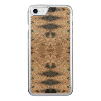 Brown Beige Earthy Design Carved iPhone 8/7 Case
