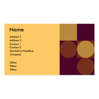 Brown - beige retro business card
