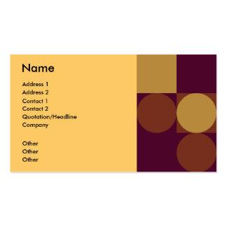 Brown - beige retro business card