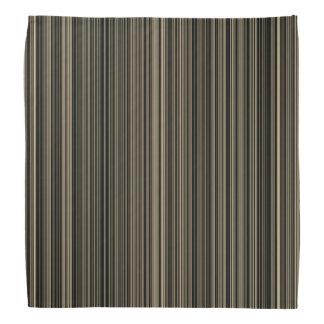 Brown Beige taupe retro stripe  bandana