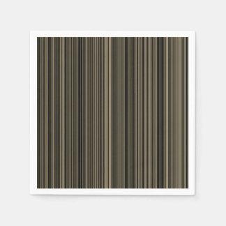 Brown Beige taupe retro stripe napkin Disposable Napkins
