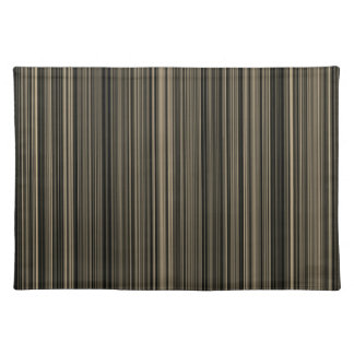 Brown Beige taupe retro stripe place mat