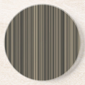 Brown Beige taupe retro stripe  sandstone coaster