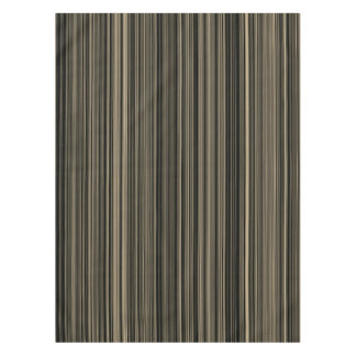 Brown Beige taupe retro stripe table cloth Tablecloth