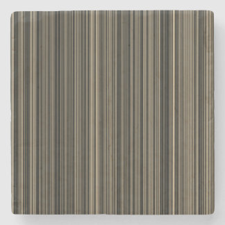 Brown Beige taupe stripe marble stone coaster
