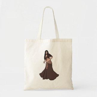Brown Belly Dancer Budget Tote Bag