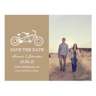 Brown Bicycle  Photo Save The Date Post Cards