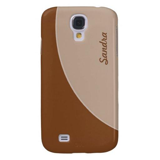 Brown Biege Simple Circle Samsung Galaxy S4 Covers