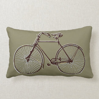 brown bike bicycle taupe Throw pillow
