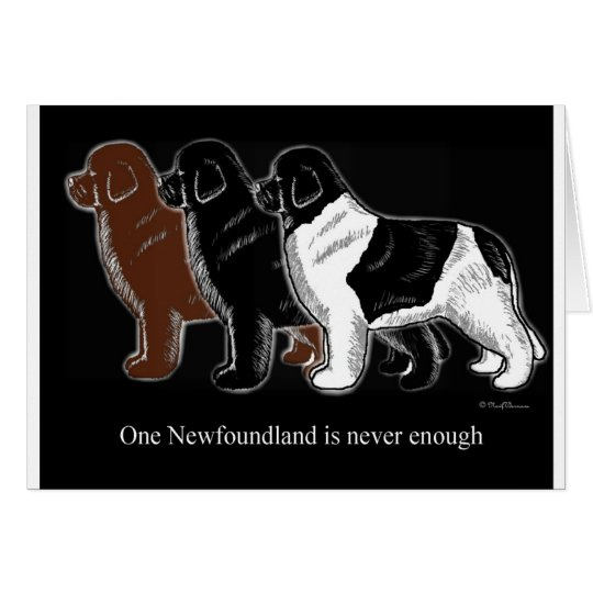 Brown Black and Landseer Newfoundland items Card