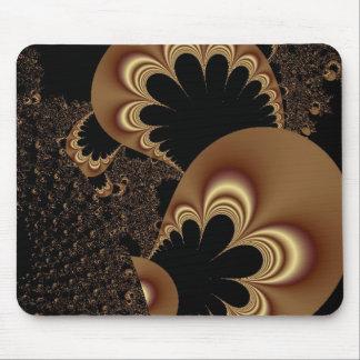 Brown Black Balloon Flower Petal Fractal Art Gifts Mouse Pad