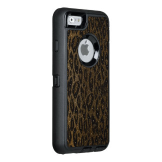 Brown Black Cheetah Stars OtterBox Defender iPhone Case