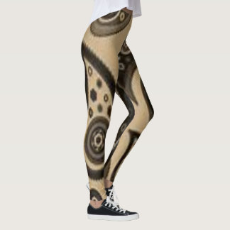 brown black paisley leggings