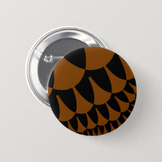 Brown Black Scales Button