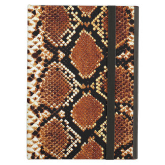 Brown black snake skin effect iPad air covers