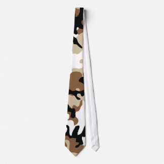 Brown, Black & Tan Military Camo Tie