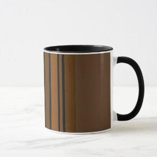 Brown/Black Vertical Stripes Mug