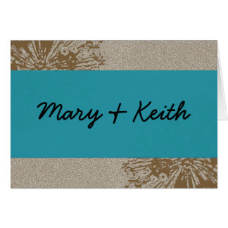 Brown & Blue Blossom Save the Date Card