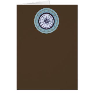 Brown & Blue Modern Blank Note Greeting Card