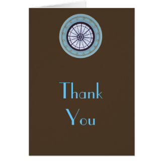 Brown & Blue Modern Thank You Note Card