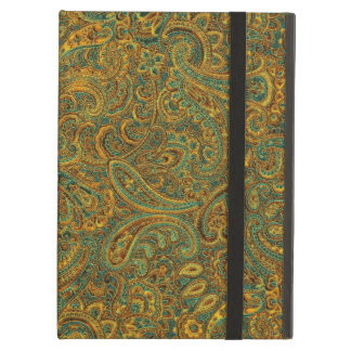Brown& Blue Ornate Floral Paisley Pattern iPad Air Covers