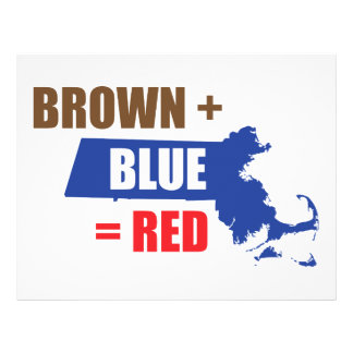 Brown + Blue Red Personalized Flyer