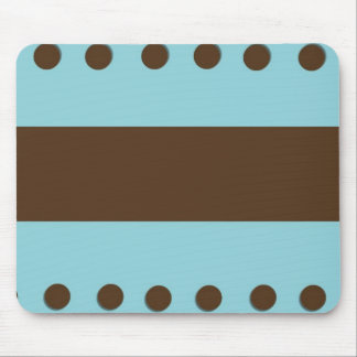 Brown & Blue with Brown Dots Mousepad