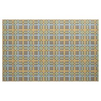 Brown Blue Yellow Green Tartan Squares Pattern Fabric