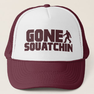 Brown Bobo GONE SQUATCHIN Hat Finding Bigfoot
