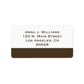brown border label