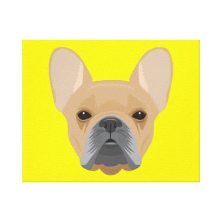 Brown Boston Terrier Canvas Print