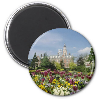 Brown Botanical gardens, Funchal, Madeira flowers 6 Cm Round Magnet