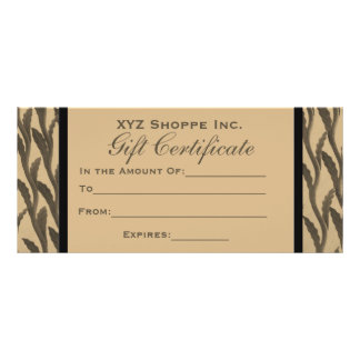 brown branches Gift Certificate