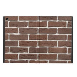 brown brick wall iPad air cases