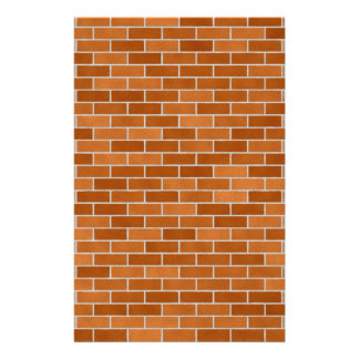 Brown Brick wall Stationery