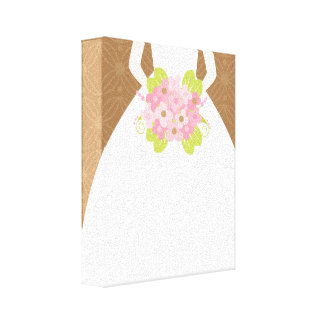 Brown Bride Stretched Canvas Prints
