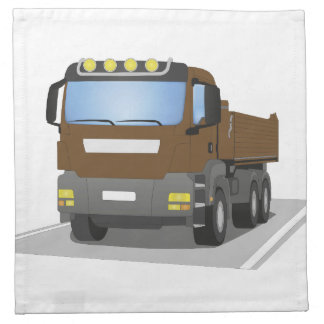 brown building sites truck napkin