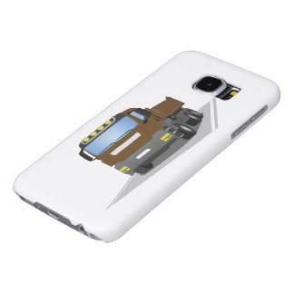 brown building sites truck samsung galaxy s6 cases