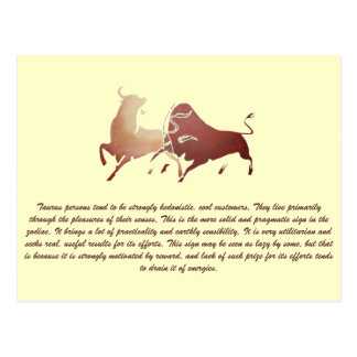 Brown Bullfight 2 Isolated Postcard