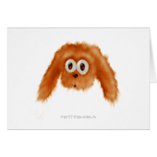 Brown Bunny Critter Greeting Card