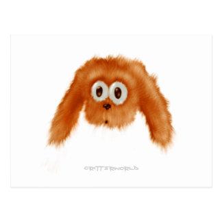 Brown Bunny Critter Postcard